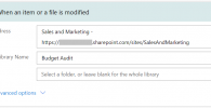 When an item or file is modified Sharepoint